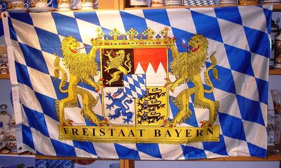 Hissflagge Freistaat Bayern Größe 150 x 90 cm.