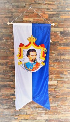 Banner König Ludwig II, Größe 150 x 60 cm.