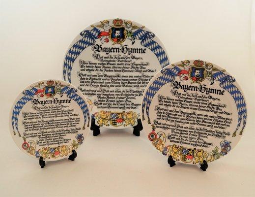 Wandteller Bayernhymne, drei verschiedene Größen