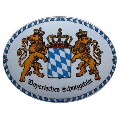 """Emailschild """" Bayerisches Schutzgebiet """" Größe 38 x 29 cm."""